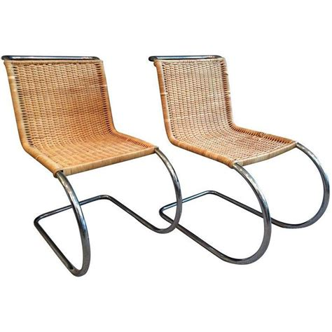 mies der rohe mr10 wicker chrome chairs chairs