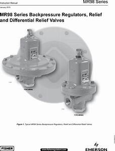 Emerson Mr98 Series Backpressure Regulators Relief And