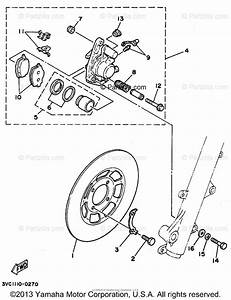 Yamaha Motorcycle 1991 Oem Parts Diagram For Front Brake