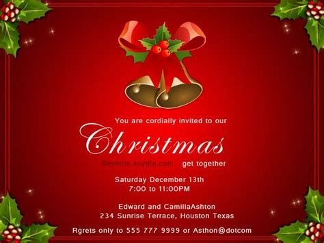 17 Best images about Christmas Invitation Cards on