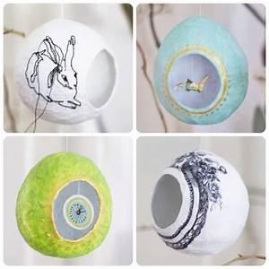 Pappmache Ideen Und Techniken Für Kreatives Gestalten : pappmach eier ben ht bemalt gef llt handmade kultur ~ Yasmunasinghe.com Haus und Dekorationen