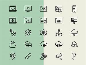 Web Development Line Icons - Icons - Fribly