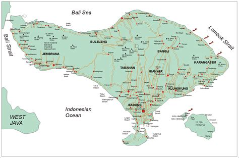 amazing indonesia bali map