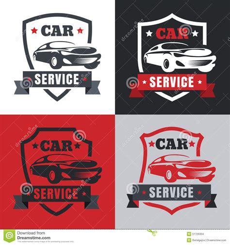 car service logo set of vintage style car service label vector logo design