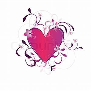 Herz Mit Blumen : valentines day hintergrund mit herz blumen und kreise element f r design vektor ~ Frokenaadalensverden.com Haus und Dekorationen
