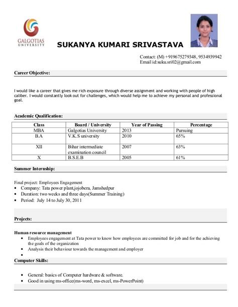 Resume Pattern by Pin By Mrajendramom On M Resume Format For Freshers