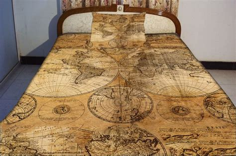 retro map bedspread retro map bedding set world map duvet cover world