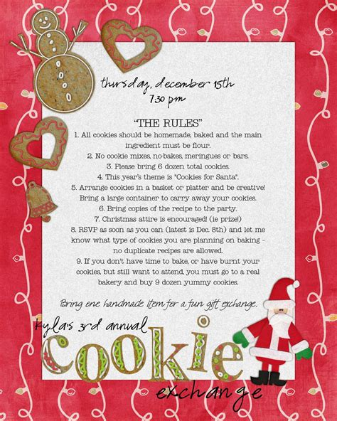 cookie exchange rules funky polkadot giraffe cookie exchange 2011 cookies for santa