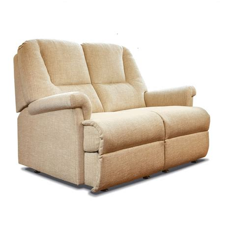 Seater Settee by Milburn Fabric Fixed 2 Seater Settee Care100