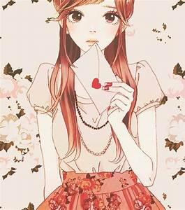 Girl with Love Letter | Anime Style Art | Pinterest ...