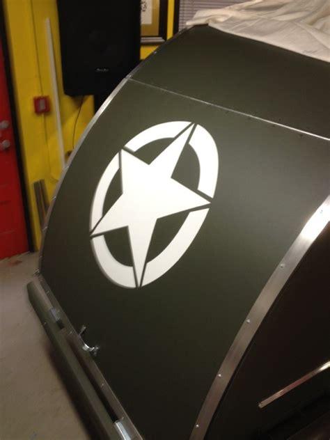 man builds  military style teardrop trailer