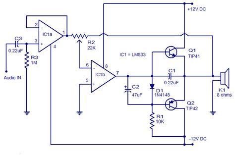 schematic amplifier tip tip circuit diagram images
