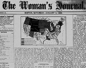 A Suffrage Map'' The Woman's Journal (11 January 1908): 1 ...