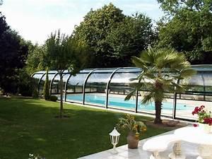 Abri Piscine Haut : installation d 39 abri haut pour piscine piscine jardin ~ Zukunftsfamilie.com Idées de Décoration