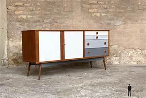 Buffet Scandinave Vintage : meuble buffet enfilade vintage scandinave en teck relook ~ Teatrodelosmanantiales.com Idées de Décoration