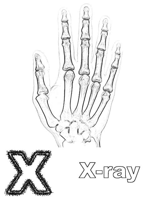 X For Coloring by X Is For X Coloring Page