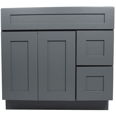 bathroom vanity single sink cabinet  shaker gray