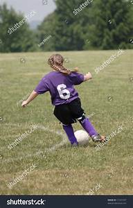 Youth Soccer Player Chasing Ball Down Stock Photo 11531437 ...