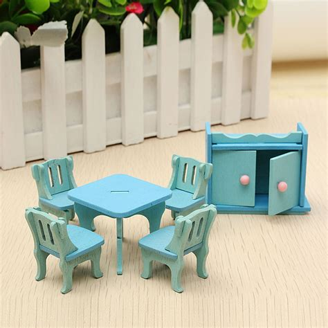 wooden dollhouse furniture doll house miniature dinning