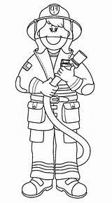 Fireman Coloring Firefighter Printable Amazing Clipart Davemelillo Lego Female Truck Cartoon sketch template