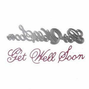 1pcs metal steel quot get well soon quot letter cutting dies With letter cutting