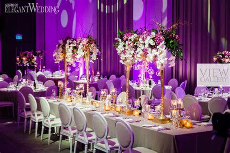 Glamorous Gold & Purple Wedding Theme
