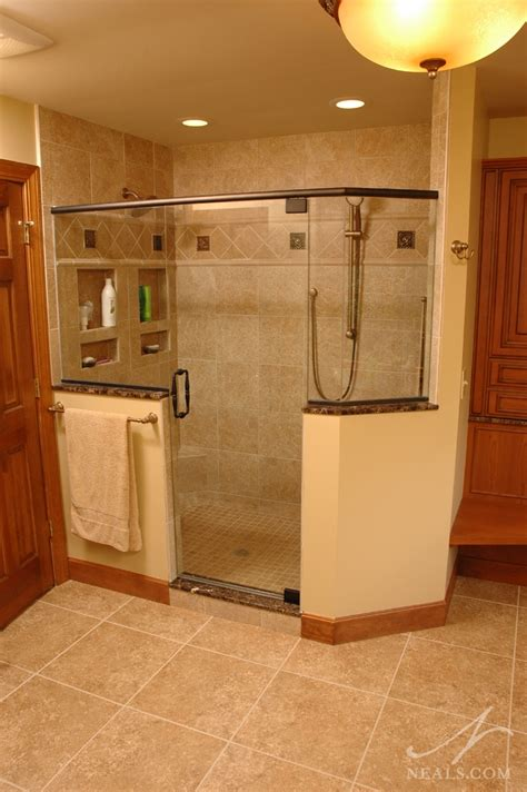 walk  shower bathroom remodel west chester
