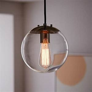 Globe pendant clear west elm