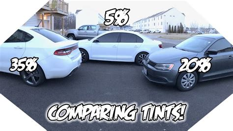 35% Vs 20% Vs 5% Window Tint! What Tint Is Best For You