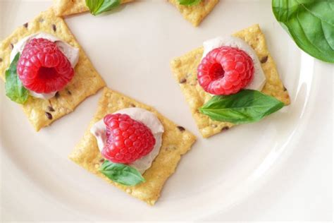 easiest canapes easy appetizer recipe raspberry basil canapés