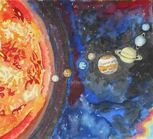 Solar System Acrylic Painting - Pics about space