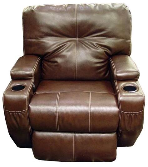 leather power recliner with cup holders home decor recliners leather and cups