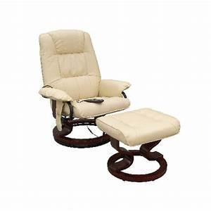 Fauteuil Repose Pied : fauteuil massant de relaxation avec repose pied achat vente fauteuil cdiscount ~ Teatrodelosmanantiales.com Idées de Décoration