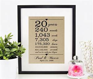 20th wedding anniversary gift for wife husband 20 years With 20th wedding anniversary gift for husband