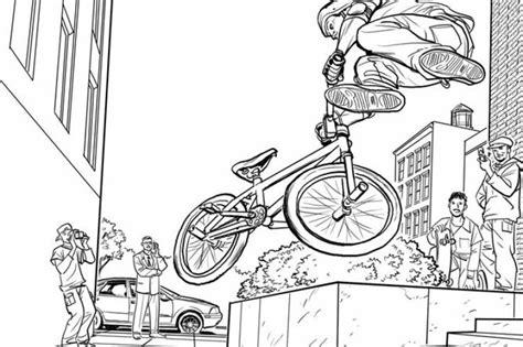 Bmx Kleurplaat by Bmx Coloring Sheets Kieron Dwyer Workblog Storyboards