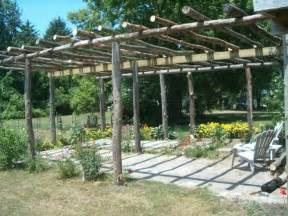 Diy Patio Cover Ideas by Rustic Pergola Love It Outdoors Pinterest