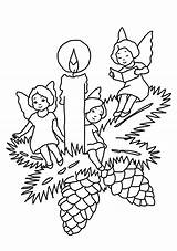 Coloring Christmas Candle Pages Angels Printable Advent Wreath Print Sheet Colorings Game Angles Getcolorings sketch template