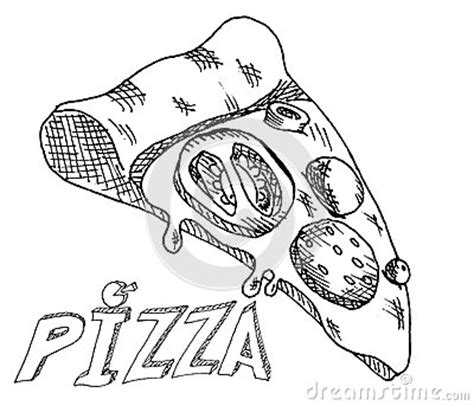 hand drawing pizza stock vector image
