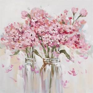 apprendre a peindre sur toile awesome peinture with With chambre bébé design avec tableaux fleurs acrylique