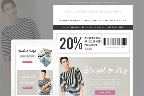 sales fashion  mail template psd  platform email