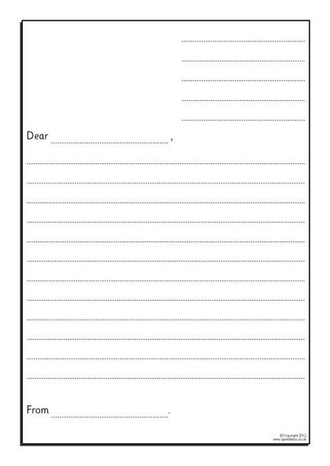 Letter Writing Template Preview
