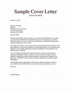 cover letter examples daycare cover letter for child care With carer cover letter no experience