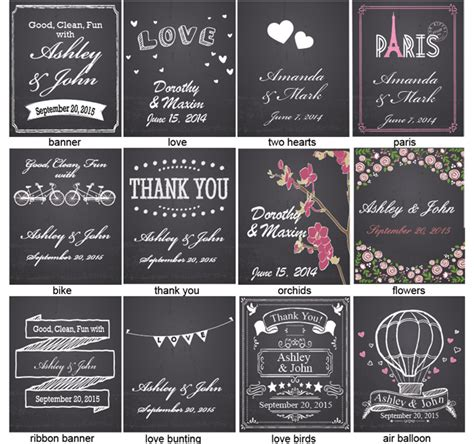 gift for 50th wedding anniversary chalkboard wedding personalized sanitizer