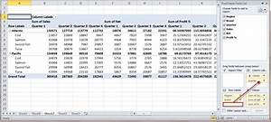 How To Create A Ms Excel 2010 Pivot Table An