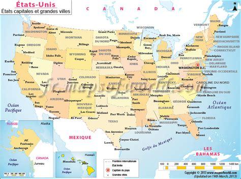 Carte Etats Unis Canada Avec Villes by La Carte Des Villes Des 201 Tats Unis