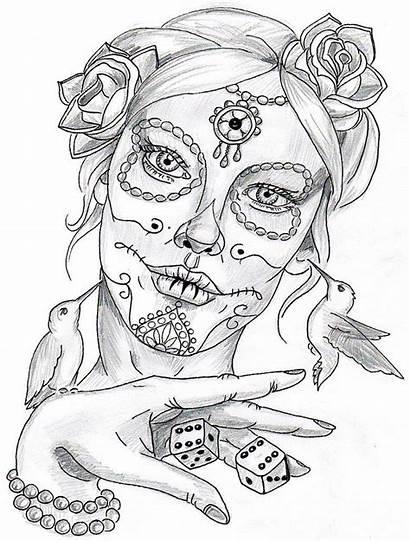 Catrina Coloring Tattoo Deviantart Adult Dead Jentheripper