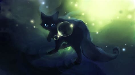 Black Cat Anime Wallpaper - anime cat desktop wallpaper pixelstalk net