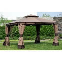 Wilson And Fisher Patio Furniture Big Lots by Wilson Amp Fisher 10 X 12 Monterey Gazebo Replacement Canopy