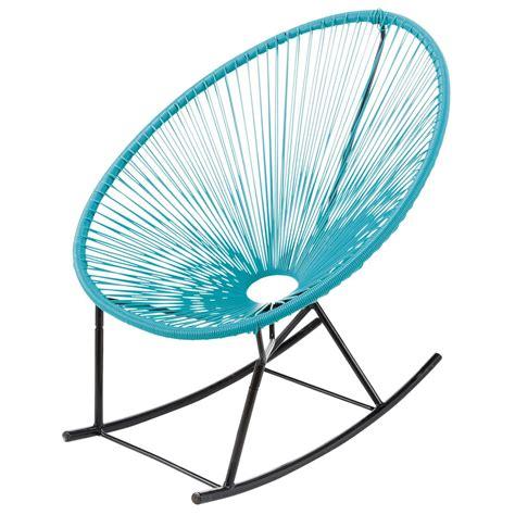 fauteuil 224 bascule de jardin turquoise copacabana