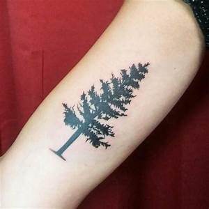 75+ Simple and Easy Pine Tree Tattoo - Designs & Meanings ...